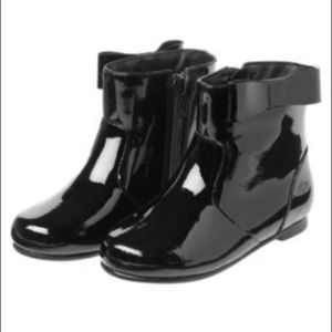 Janie and Jack Patent Leather Bow Boots